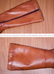 Aprendendo a variar a cor da bota com Serena Van der Woodsen
