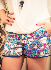 Look da Lu: shortinho paisley