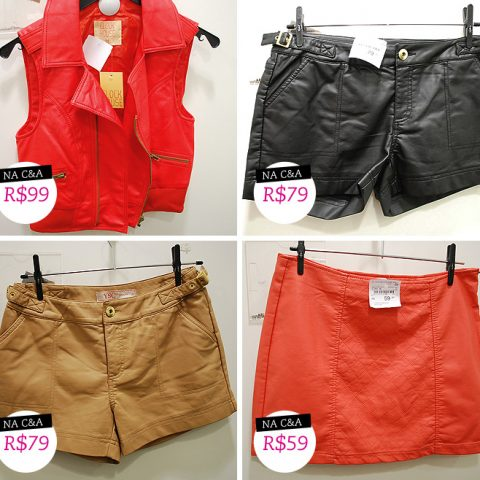 Fast fashion: laranja, macaquinho e couro
