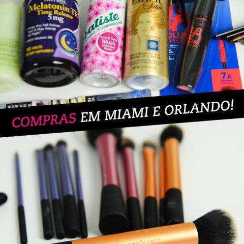 Video: compras em Miami e Orlando!