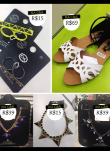 Fast Fashion: sapato branco, NY e colar bapho