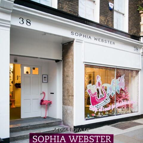 A loja fofa da Sophia Webster em Londres