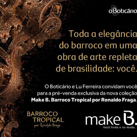 Concurso relâmpago: pré venda Barroco Tropical de O Boticário