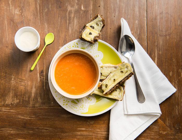 Receita de sopa de tomates assados - O Chef e a Chata - Lu Ferreira