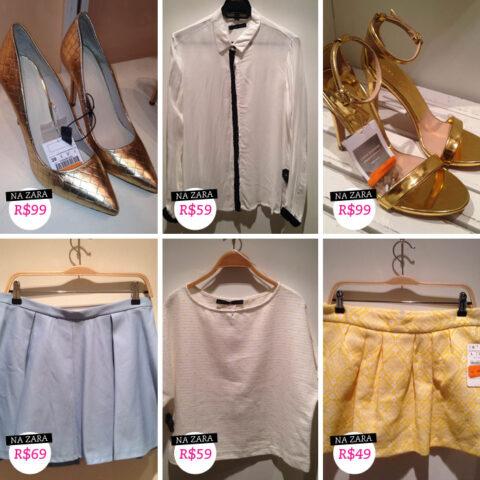 Fast Fashion: saias de verão, metalizados e flanela