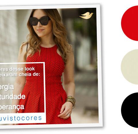 Agora em cores: Look da Lu: vestido colorido