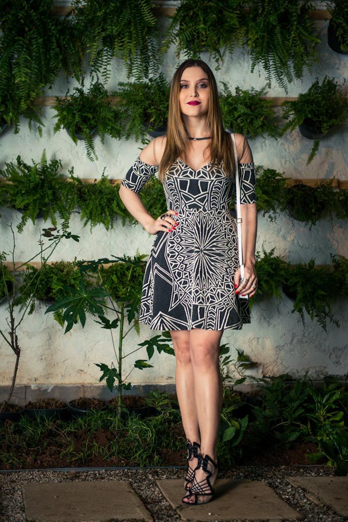 Look da Lu: vestido p&b - Lu Ferreira