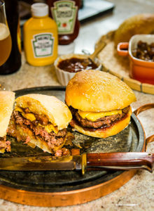 Receita de hambúrguer com geléia de bacon – O Chef e a Chata