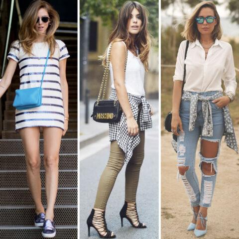 Looks da semana: paetês, jeans destroyed e mix de estampas