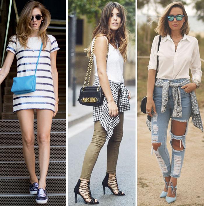 Looks da semana: paetês, jeans destroyed e mix de estampas - Lu Ferreira