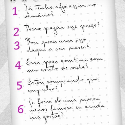 6 coisas pra pensar antes de comprar!