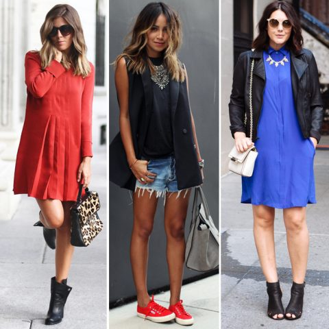 Looks da semana: red&blue + Anos 60 e 80