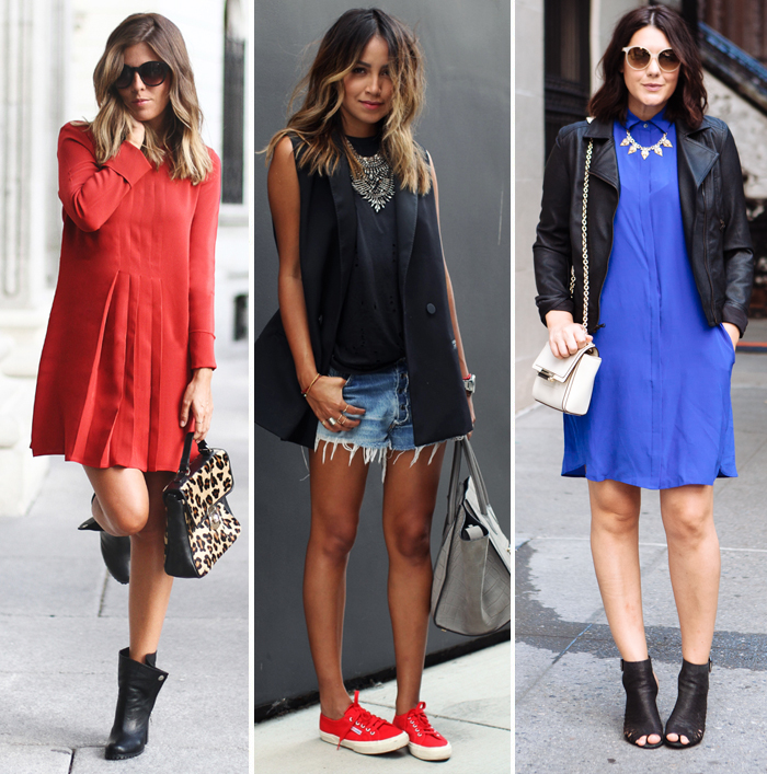 Looks da semana: red&blue + Anos 60 e 80 - Lu Ferreira