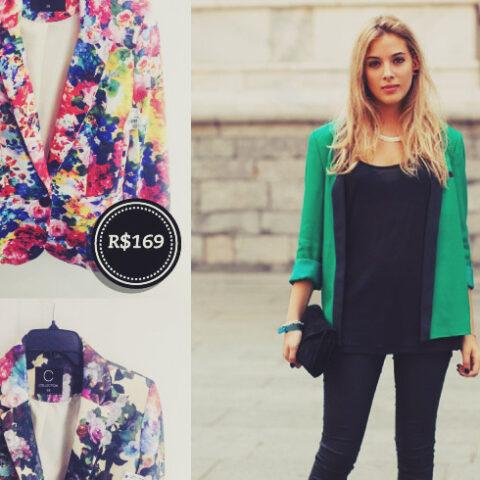 Fast Fashion: blazers, anos 70 e calça colorida