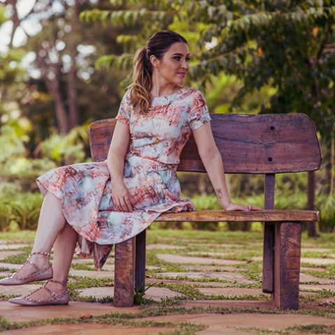 Look da Lu: cropped + saia midi