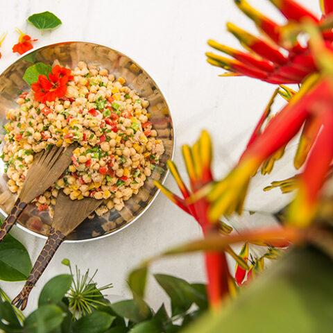 Salada de grão de bico com atum – O Chef e a Chata