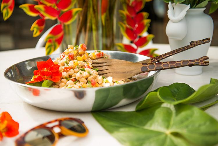 Salada de grão de bico com atum - O Chef e a Chata - Lu Ferreira