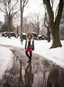 Look da Lu: pontinho vermelho no Central Park
