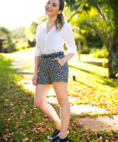 Look da Lu: short e tênis