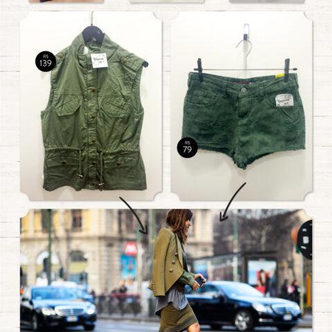 Fast fashion: verde militar