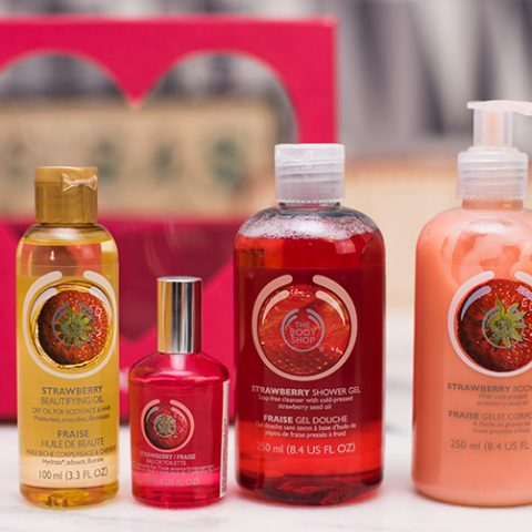 Kit fofo de dia dos namorados da The Body Shop