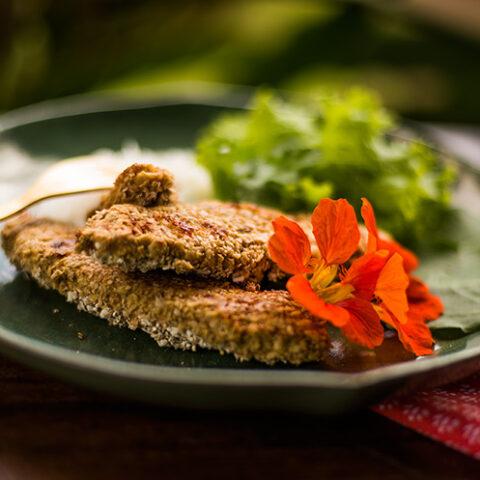 Receita de filé de frango empanado light – O Chef e a Chata