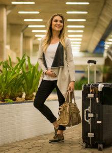 Viajando de avião grávida