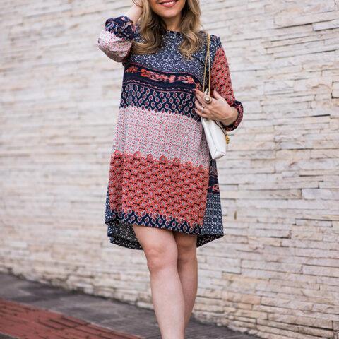 Look da Lu: vestido estampado