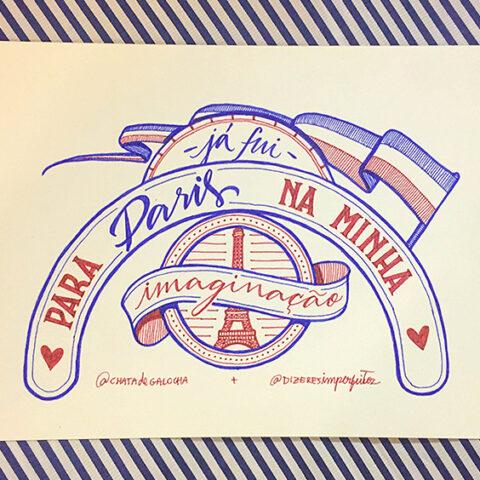 Já fui para Paris na minha imaginação