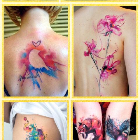 23 tatuagens aquareladas pra inspirar a sua próxima!
