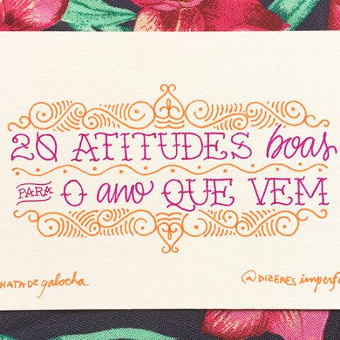 20 atitudes boas para o ano que vem