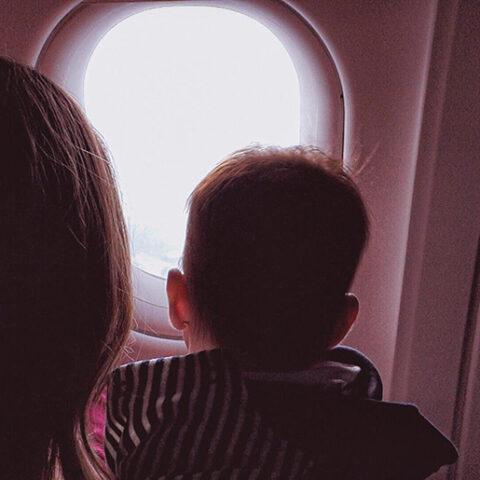 Viajando de avião com o bebê (3 meses)