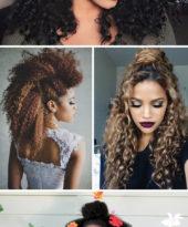 15 penteados para cabelos crespos e cacheados