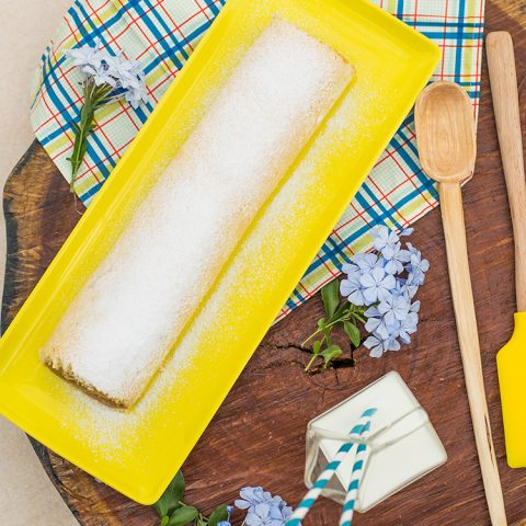 Rocambole recheado de doce de leite – O Chef e a Chata