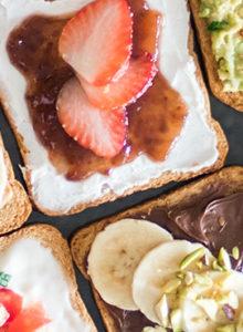 6 ideias pra variar sua torrada no café da manhã