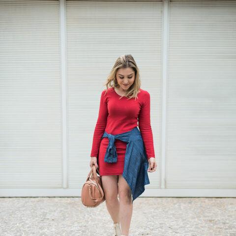Look da Lu: vermelho e confortável