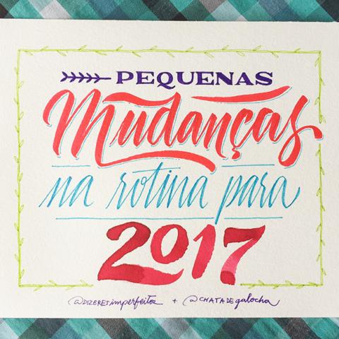 PEQUENAS MUDANÇAS NA ROTINA PARA 2017