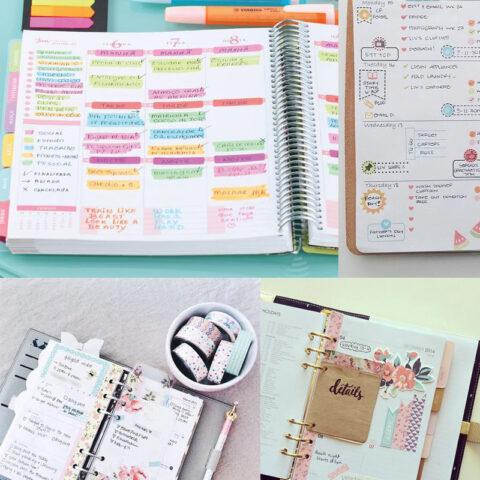 Para se organizar melhor em 2017: planners e bullet journal!