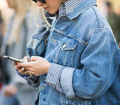 Atualizando o look de inverno: jaqueta jeans oversized