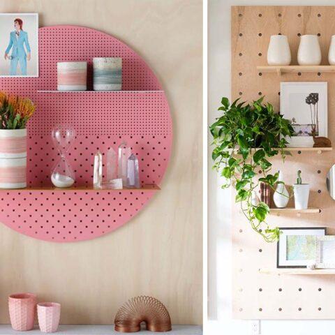 5 maneiras criativas de usar pegboard na decoração