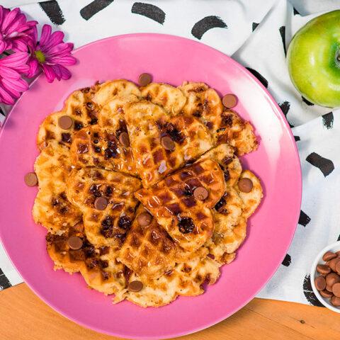 Receita de waffles com chocolate