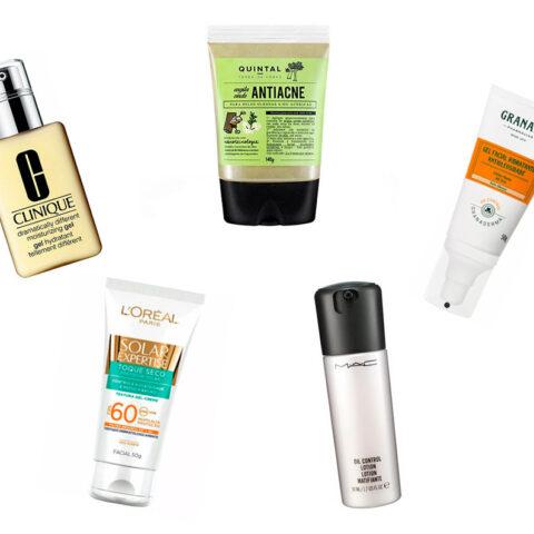 10 produtos que ajudam a controlar a oleosidade da pele