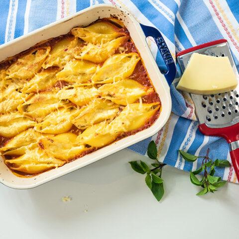 O Chef e a Chata | Como conchiglione recheado com 3 queijos