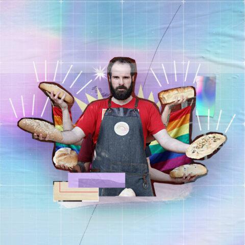 """A bandeira LGBTQIA+ do """"Pão que o Viado Amassou"""""""